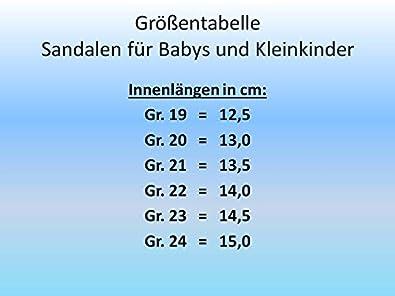 Gr Dunkelblau 19-24 Art gibra Leder Sandalen f/ür Babys und Kleinkinder 5437