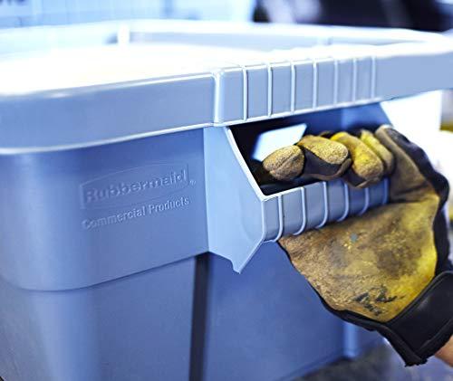 Rubbermaid Commercial Products BRUTE Contenedor de almacenamiento con tapa, 14 galones, gris (FG9S3000GRAY)