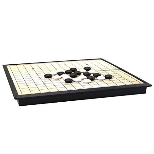 Blesiya ゴバンゲームセット  5行 パズルゲーム 磁気ストーン ゴバンボード パズル チェス おもちゃ