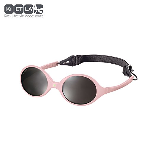 Ki ET LA – Sunglasses for babies Diabola style – 100% unbreakable – Light Pink – 0-18 - Sunglasses Category 0