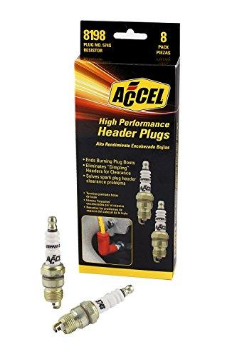 ACCEL 8198 Performance U-Groove Header Spark Plug - Pack of 8 (8 Shorty Headers)