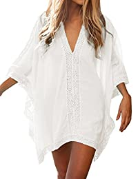Duraplast Women's Swimsuit Cover up Bathing Suit Coverups Beach Tops Cotton
