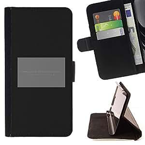Momo Phone Case / Flip Funda de Cuero Case Cover - Cartel Gris Negro minimalista texto - Motorola Moto E ( 1st Generation )