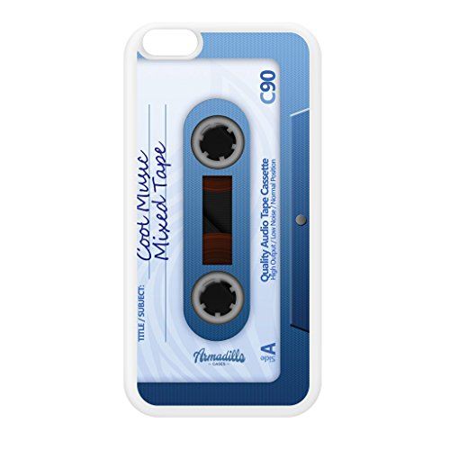 Retro Gadgets Mixtape Cassete White Silicon Rubber Case for iPhone 6 Plus by DevilleArt + FREE Crystal Clear Screen - Uk Free Mixtapes