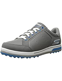 Performance Men's Go Golf Drive 2 Golf Shoe,Charcoal/Blue,11 2E US