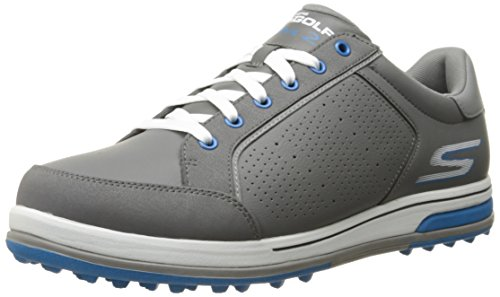 Skechers Performance Men's Go Golf Drive 2 Golf Shoe,Charcoal/Blue,11 2E US (Best Spikeless Golf Shoes For Walking)