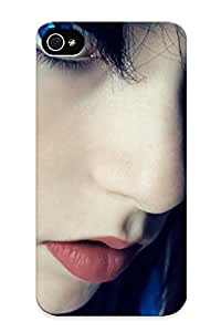 Gregorymalone Faddish Phone Blue Eyed Girl With Headphones Case For Iphone 4/4s / Perfect Case Cover