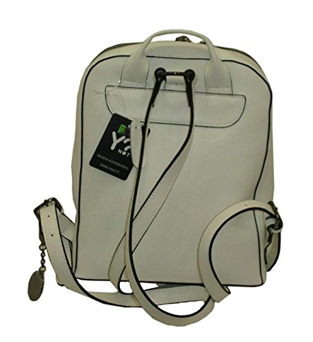 BORSA ZAINO IN PELLE YNOT H743 BACKPACK LEATHER SAFFIANO BIANCO