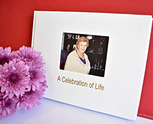 Juniper Flux Funeral Guest Book Remembrance Memorial in Loving Memory Visitor Registration ()