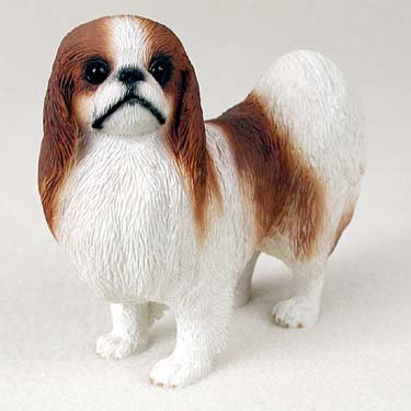 Japanese Chin Figurine Red-White