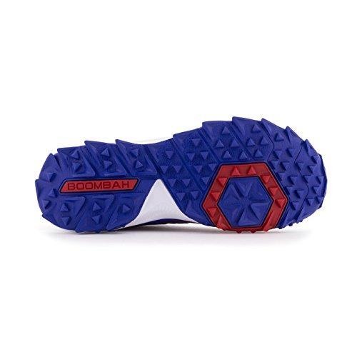 Boombah Mens Squadron Turf Shoes - 20 Opzioni Di Colore - Più Dimensioni Royal / Rosso