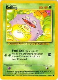 Koffing - 51/102 - Common - Unlimited Edition - Base (Deck Pokemon Base)