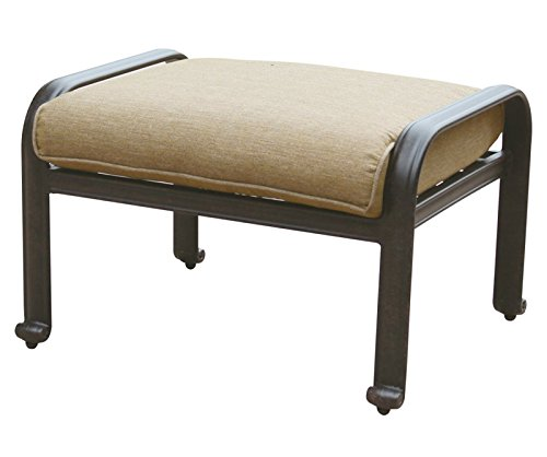 (Outdoor Ottoman Cast Aluminum Elisabeth Patio Furniture Desert)