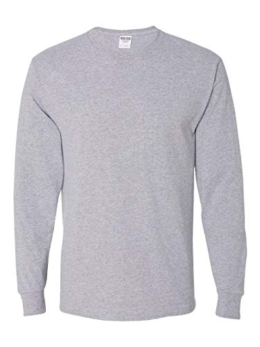 Jerzees Men's Long-Sleeve T-Shirt, Athletic Heather, X-Large