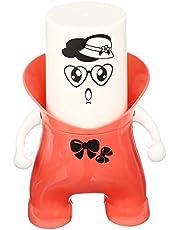 حامل فراشي الاسنان مع كوب بلاستيك من تينجما - برتقالي