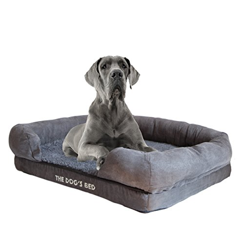 The Dog's Bed, Orthopedic Premium Memory Foam Waterproof Dog Bed, 4 Sizes/6 Colors, Ease Pet Arthritis & Hip Dysplasia Pain, Therapeutic & Supportive, Removable Washable Quality Oxford & Plush Covers