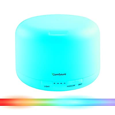 500ml Essential Oil Diffuser for Aromatherapy & Ultrasonic Cool Mist Air Humidifier - Filter Free: Best Personal Aroma Diffuser for Office, Home, Bedroom, Kids & Baby Room and Yoga Spa