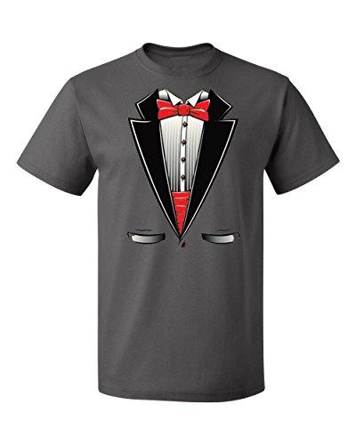 (Most Popular Original Halloween Tuxedo Costume Men's T-Shirts Crew Neck Tee Shirts for)