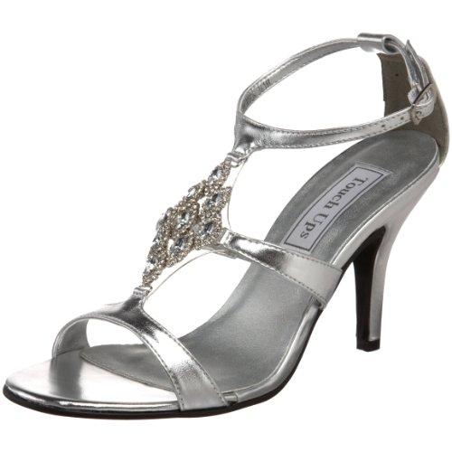 Kvinners Damaris Metallic T Sølv Menneskeskapt Sandal stropp Oppfriskning Sdx1wS