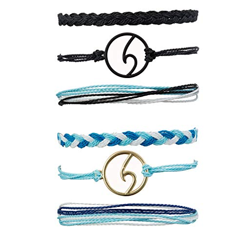 Starain VSCO String Wave Bracelet for Women Girls Boho Handmade Waterproof Adjustable Braided Rope Friendship Bracelets Set