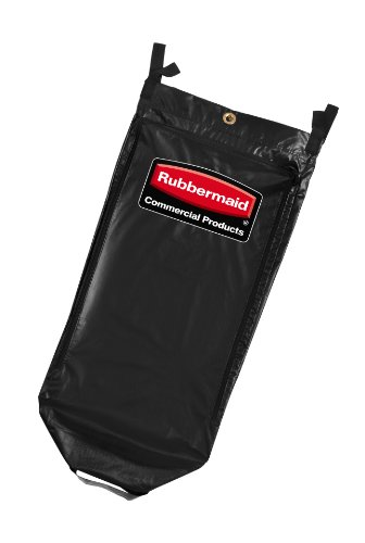 Rubbermaid High Capacity Vinyl (Rubbermaid Commercial 1851454 Executive Janitorial Cleaning Cart High-Capacity Vinyl Bag, 34-gallon)
