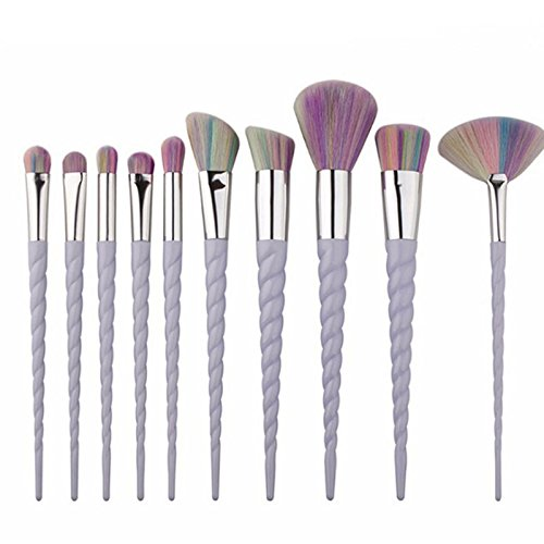 CASA SHOP Unicorn Make Up Brushes, New Spiral Thread, Ox Horn Makeup Brush, Brus