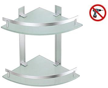 Msv Bad Regal Tabarca Eckregal Duschregal Aus Aluminium Und Glas