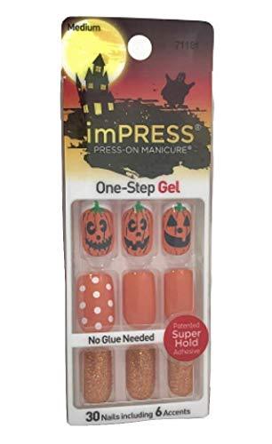 (Kiss ImPress Press-On Medium Length Gel Halloween Nails 71181 Reign)