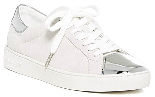 Michael Michael Kors Frankie Sneaker (Optic/Silver) Women's Shoes (8) (Michael Kors Frankie)
