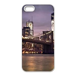 Magnificent bridge night view Phone Case for iPhone 5S(TPU)