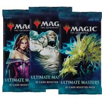 3 (Three) Booster Packs of Magic: The Gathering: Ultimate Masters (3 Pack - UMA Booster Draft Lot) (Magic The Gathering Modern Masters Booster Box)