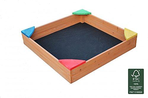 Sandkasten-Sandkiste-Holzsandkasten-lasiert-mit-Bodenplane-und-Abdeckung