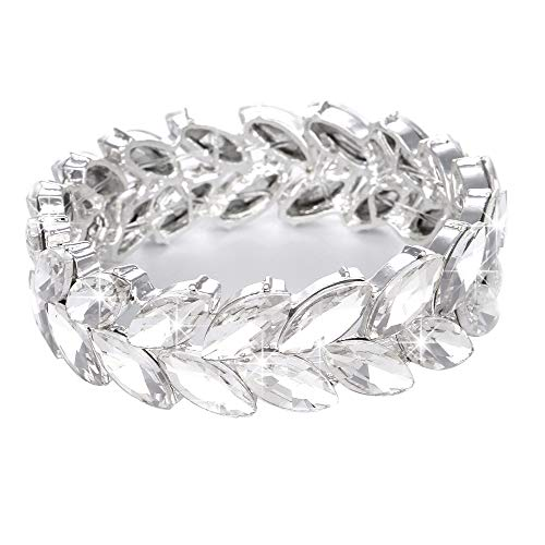 Youfir Women's Austrian Crystal Wedding Knot Elastic Stretch Bracelet for - Crystal Bracelet Austrian Cuff