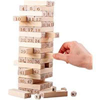 Smilee Wooden Stacking Board Games Timber Tower Classic Best Family Fun Educational Games for Kids ?Gifts Ideas Number…