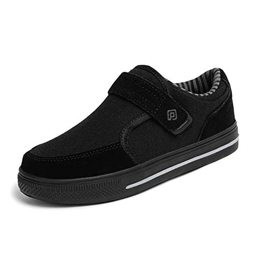 DREAM PAIRS Big Kid Boys' 160479-K All Black School Loafers Sneakers Shoes - 4 M US Big Kid ()