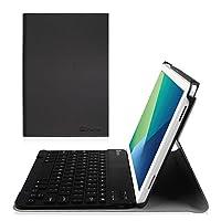 Funda con teclado Fintie para Samsung Galaxy Tab A 10.1 con S Pen, cubierta delgada del soporte del peso ligero de Shell con teclado Bluetooth desmontable inalámbrico para Galaxy Tab A 10.1 con S Pen (SM-P580 /P585), negro