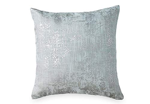 DKNY Refresh Metallic Printed Decorative Pillow, 16 x 16, Mist