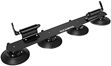 ROCKBROS Suction Bike Rack Car Roof Top Bike Rack for Cars Bike Carriers Roof Mounted Bike Rack Quick Release Aluminium Alloy Bicycle Holder with Sucker