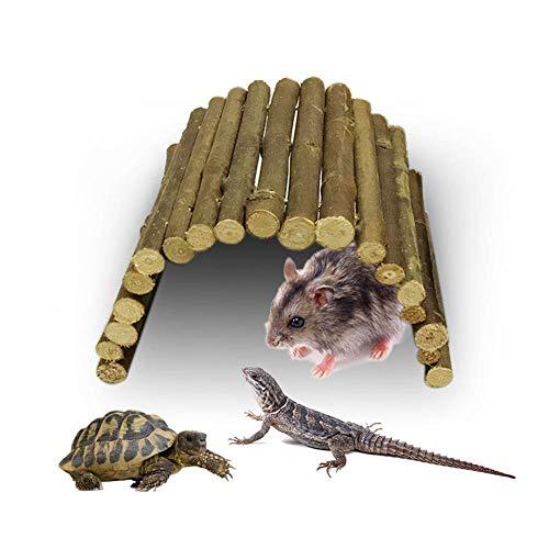 Umiwe Reptile House Decor Bearded Dragon Vivarium Wood Plant Habitat Supplies Accessories for Lizard Hamster Parrots Tortoises