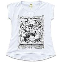 Camiseta T-shirt Feminina Rock Cool Tees Bateria Da Vinci