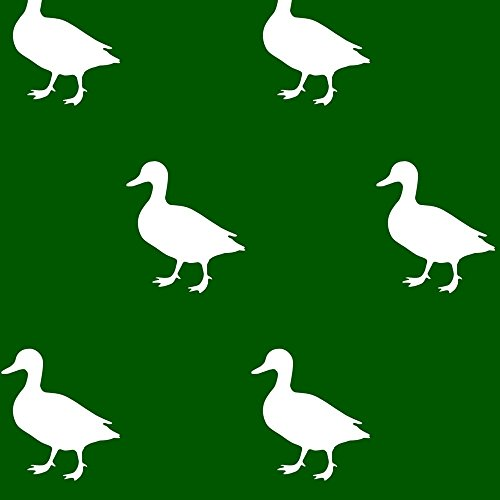 ducks-hunter-green-by-mrshervi-custom-fabric-with-spoonflower-printed-on-basic-cotton-ultra-fabric-b