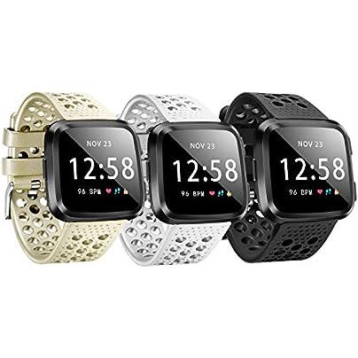 Fitbit Versa Bands Sport Strap Adjustable Accessory Wristbands Fitbit Versa Large Small Men Women Fitbit Versa Breathable Design Estimated Price £3.93 - £7.86 -