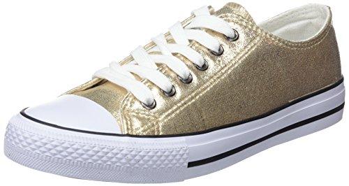 Conguitos Mädchen Basquet Metalizado Sneakers Gold (Platino)