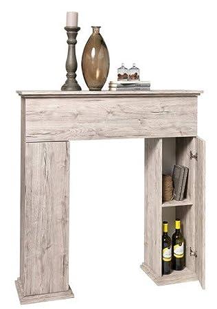 sandeiche 110 x 28,5 x 117 cm FMD M/öbel 641-003 Kamin/überbau Holz