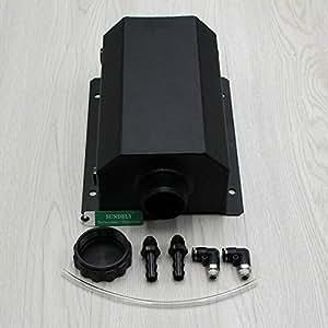SUNDELY® Universal Kit Car 2 Litre Aluminium Alloy Water Tank 2000ml Black AU