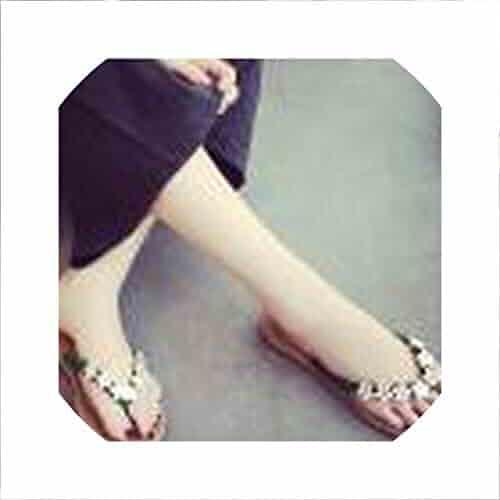 a3e06be5c IOJHOIJOIJOIJMO Women Fashion Solid Color Flower Flip Flops Sandals Slipper  Beach Shoes