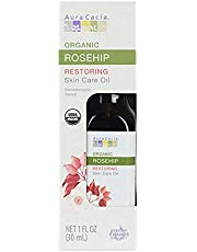 Aura Cacia Organic Rosehip Skin Care Oil | GC/MS Tested for Purity | 30ml (1 fl. oz.) in Box