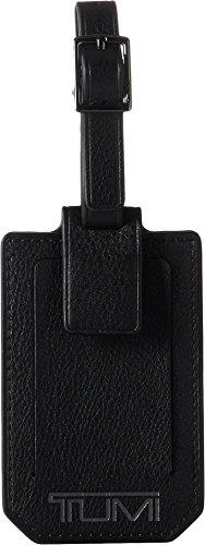 Tumi Unisex Nassau Luggage Tag Black Textured One (Black Leather Luggage Tag)