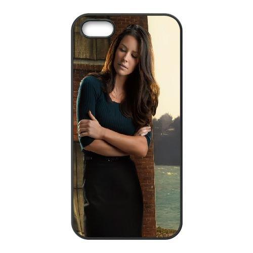 Evangeline Lilly Brunette Nature Light Dress coque iPhone 5 5S cellulaire cas coque de téléphone cas téléphone cellulaire noir couvercle EOKXLLNCD23596