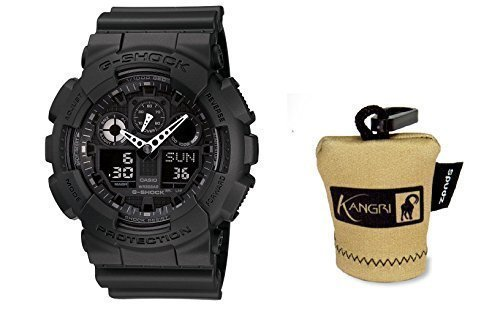 casio-g-shock-black-resin-quartz-tactical-military-watch-mens-1a1-free-kangri-spudz-microfiber-cloth